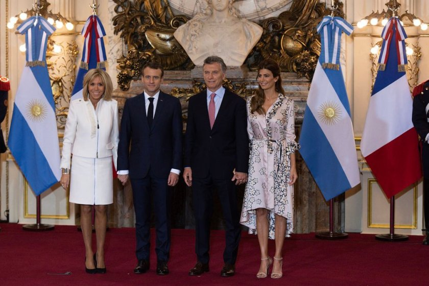 G 20: Reunion entre Macron y Macri