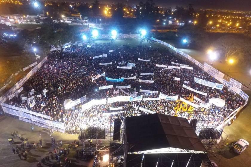 Ante 30.000 tucumanos Manzur y Jaldo presentan a sus candidatos por el Este