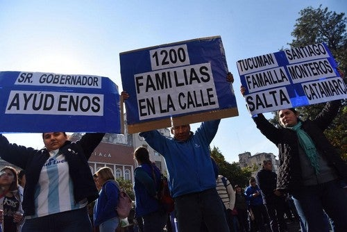 Los 1.200 empleados de Emilio Luque iniciaron un paro por tiempo indeterminado