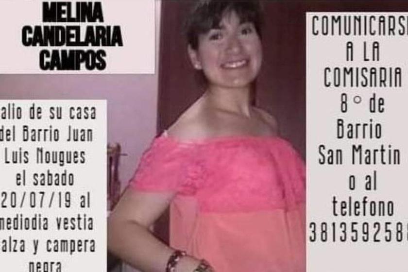 Ya fue encontrada Melina Campos, la joven tucumana que era buscada por su familia