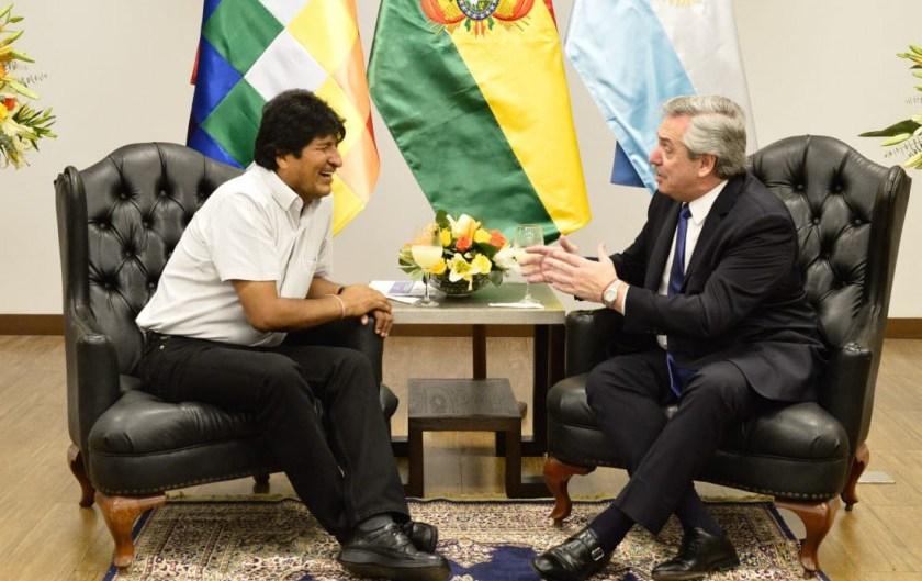 """Alberto Fernandez visitó a Evo Morales y dijo que Bolivia es """"un modelo"""""""
