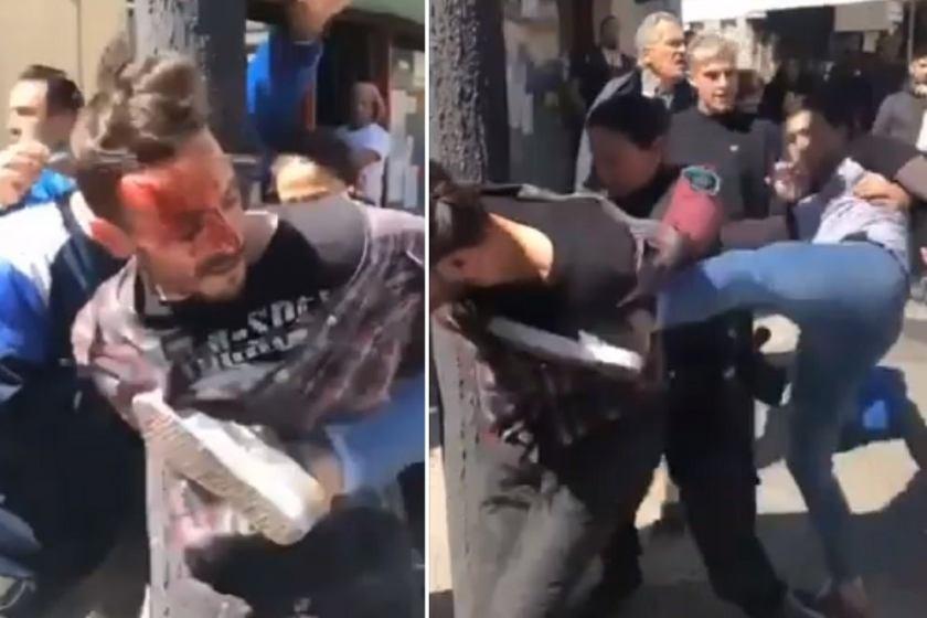Paliza de vecinos a un ladrón que entró a robar en un edificio(VIDEO)