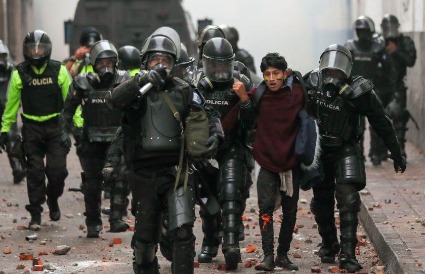 Ecuador: La represion de Lenin Moreno deja en una semana un saldo de 5 muertos, 554 heridos y cientos de detenidos