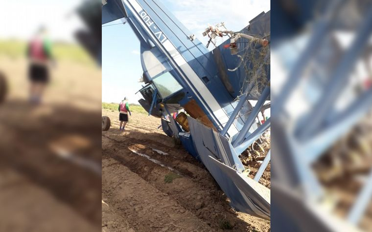 """""""Milagro"""": Cayó una avioneta y su piloto resultó ileso"""