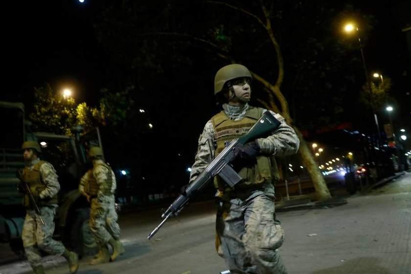 CHILE: 308 detenidos, 500 militares en las calles y 11 denuncias de civiles lesionados, tras las jornadas de protestas