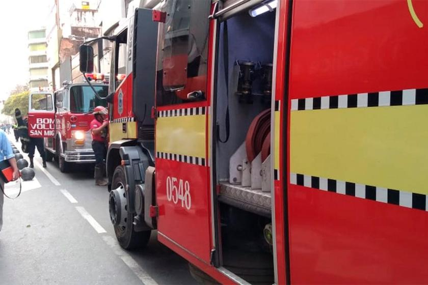""" Incendio en la City Tucumana """