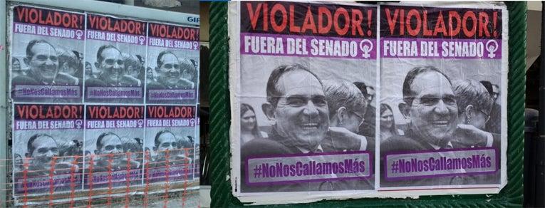 """"""" Afiches contra el senador Jose Alperovich, cubren los alrededores del Congreso de la Nacion """""""