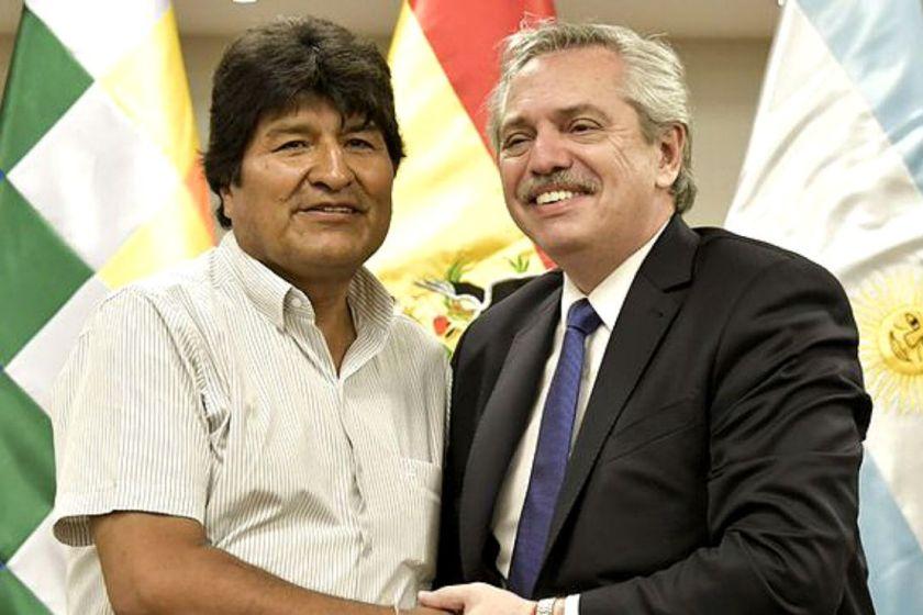 """Evo Morales: """" Alberto Fernandez, fue uno de los que me salvó la vida"""""""