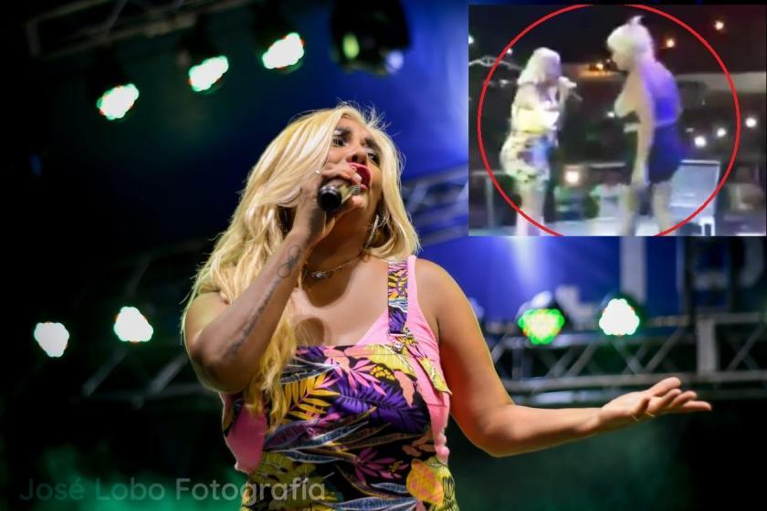 Gladys La Bomba Tucumana fue amenazada en pleno show  durante una fiesta de carnaval(VIDEO)