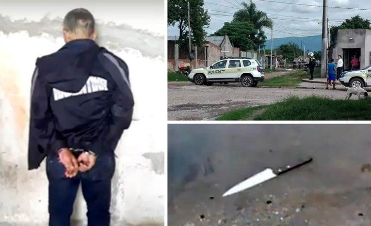 FEMICIDIO en El Colmenar: hombre de 55 años llegó a la casa de su ex mujer de 22 años, la sacó a la calle y la acuchilló frente a las dos hijitas de ambos