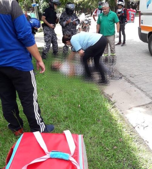 """"""" DELINCUENTE AL VOLANTE """": Una mujer atropelló a un chico de Pedidos Ya y se dio a la fuga, ocurrio en Yerba Buena"""