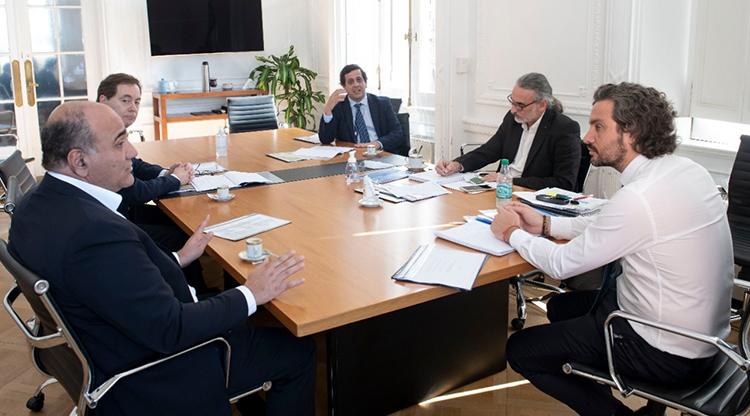 El Gobernador  Manzur y citricultores se reunieron con Cafiero y Basterra