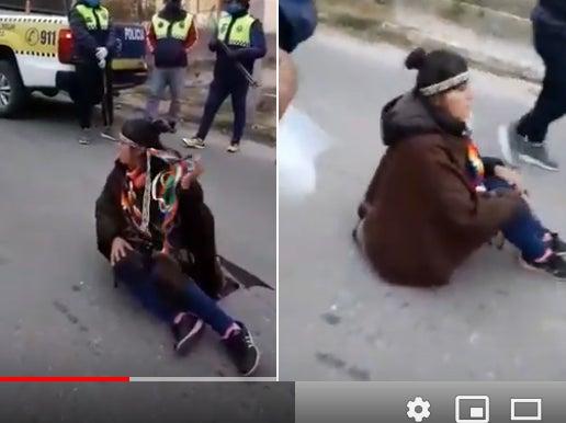 La policía detuvo a la indigenista Mamaní y disolvieron a tiros el corte en la ruta 307
