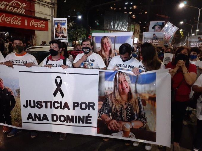 Los tucumanos marcharon para pedir justicia por el asesinato de Ana Dominé