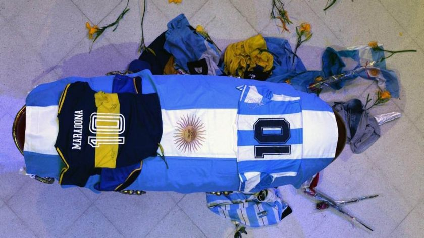 El pueblo argentino despide a Diego Maradona (GALERIA DE FOTOS)