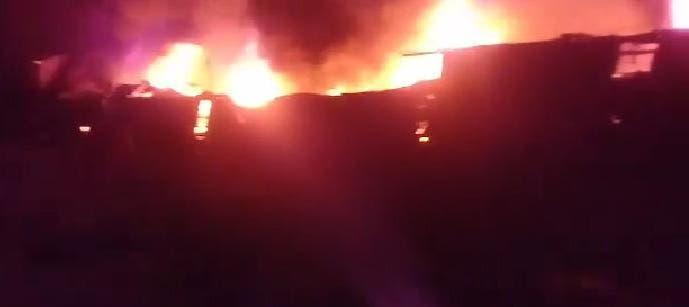 EXPLOSION E INCENDIO EN LA QUINTA AGRONOMICA (VIDEO)