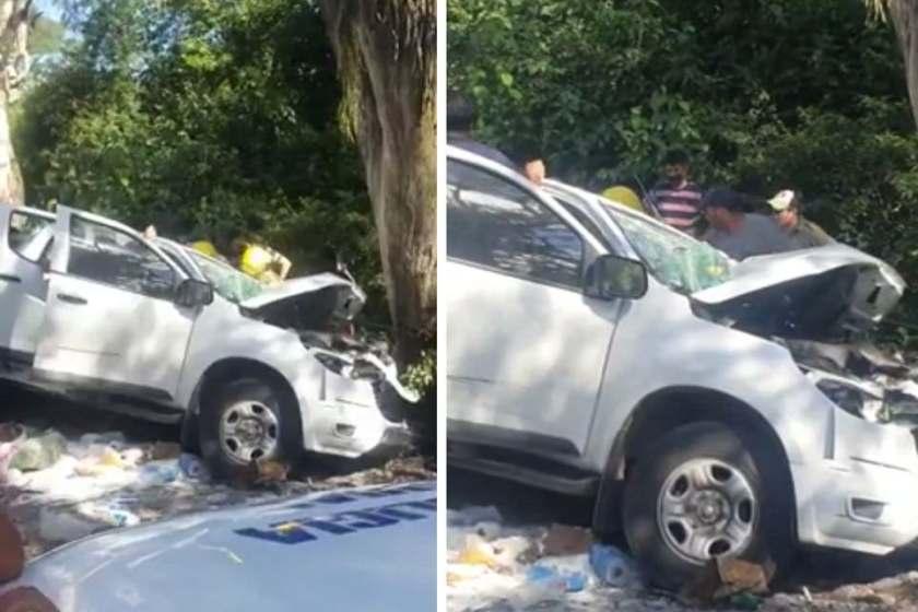 Accidente en el camino a Tafi del Valle: Se durmió al volante y se estrelló contra un árbol