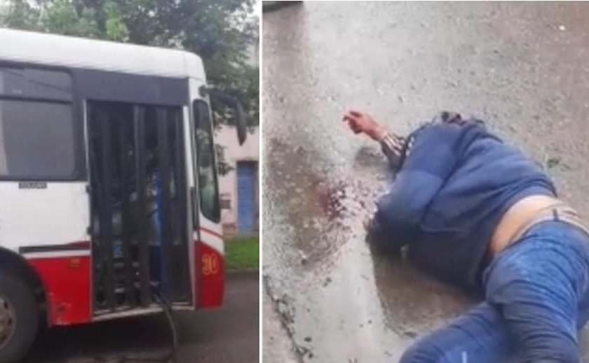 (VIDEO) Motochorro huía y se estrello contra un colectivo  (VIDEO)