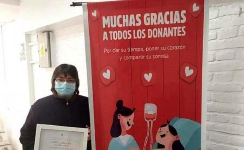 """HEROE TUCUMANO: Homenajearon a José """"Tachuela"""" Contino, quien dono sangre durante 30 años ayudando a salvar mas de 100 vidas"""