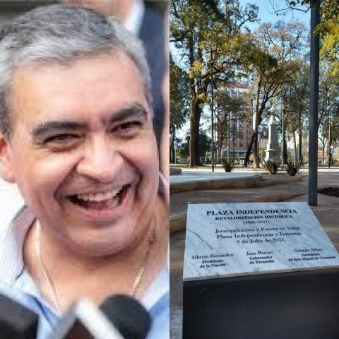 Placa de Plaza Independencia: Avergonzado por el error , Alfaro ordenó retirar el homenaje.