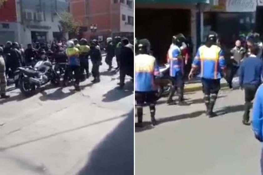 TUCUMAN: Pelea campal entre inspectores de tránsito y motociclistas (VIDEO)