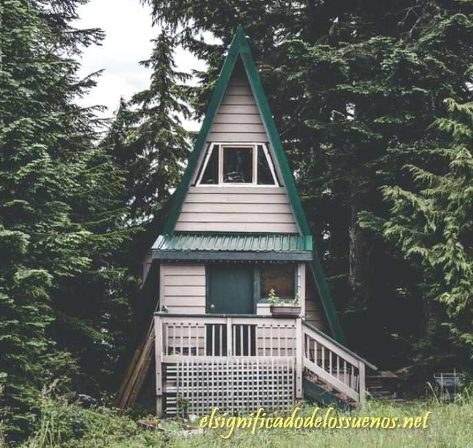 Soñar con vivir en una cabaña
