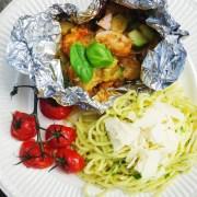 vispakketje met curry