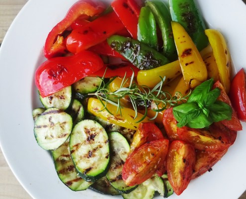 salade van gegrilde groenten