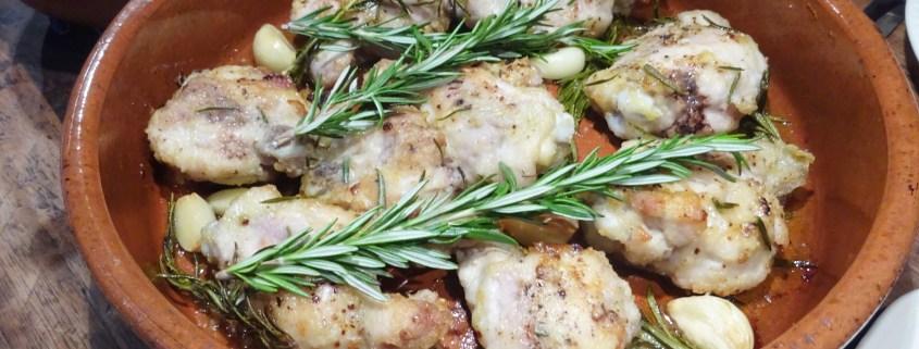 kip met knoflook en rozemarijn