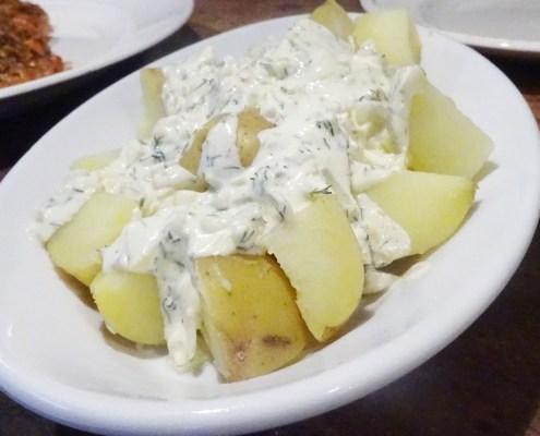 aardappels met dille en creme fraiche