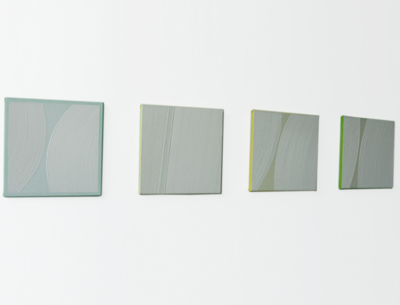 Els Moes, 2011-15, 16, 17, 18, alkyd/oil on linen, 30x30cm