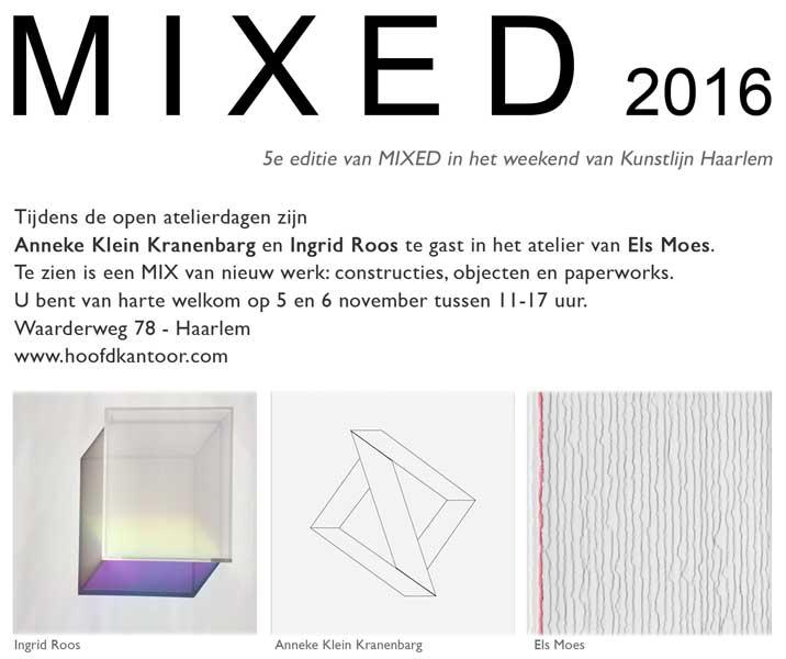 MIXED 2016, met Ingrid Roos, Anneke Klein Kranenbarg en Els Moes