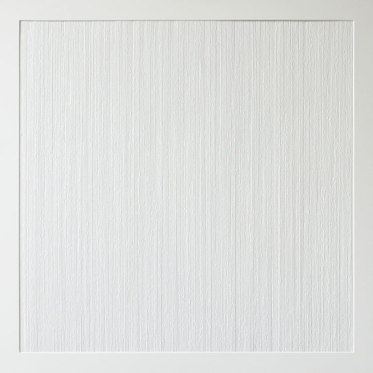 Els Moes,paperwork, white, 2019, 80x80cm incl frame 83x83cm