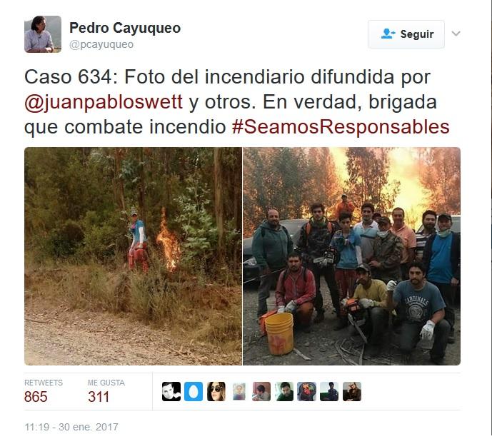 Pedro Cayuqueo denunciando la irresponsabilidad de importantes referentes del conservadurismo chileno.