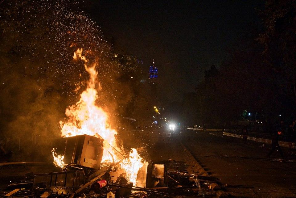 Barricadas en la Alameda, Santiago de Chile