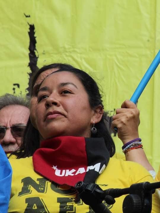 Doris González, dirigenta de Ukamau.