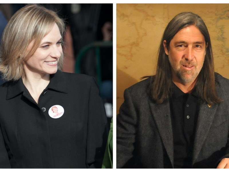 Carolina Goic y Juan Pablo Letelier