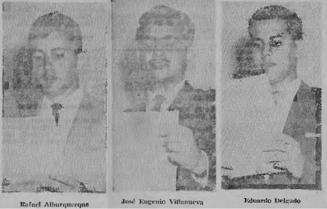 FOTOS ORADORES ACTO FED, JULIO 1961