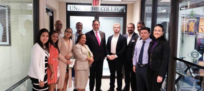 Director Escuela de Arquitectura de UNIBE gira visita de cortesía a UNICARIBE COLLEGE