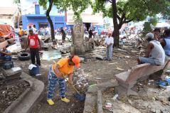 Bigadas trabajan en rescate del parque Juan Antonio Alix