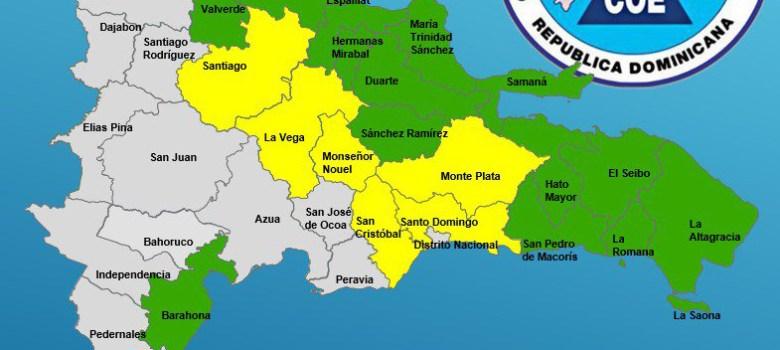 Organismos de socorro mantienen 20 provincias bajo alerta por lluvias