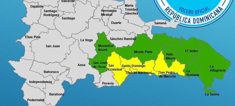 COE eleva a 10 las provincias bajo alerta