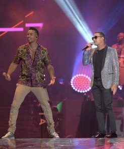 Romeo Santos y Raulin Rodriguez en el Medline