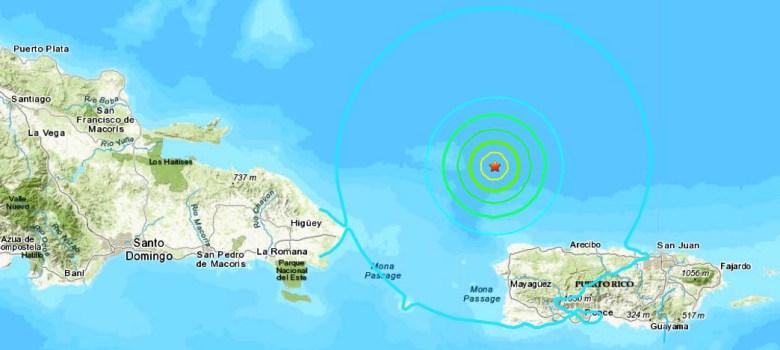 SANTO DOMINGO.-(RT)Un terremoto de magnitud 6,3 se ha registrado la noche de este lunes 23 de septiembre cerca de las costas de Puerto Rico. El movimiento telúrico se registro a unos 73 kilómetros al norte de la localidad de San Antonio, informa el Servicio Geológico de Estados Unidos (USGS). El foco del movimiento telúrico se ha ubicado a 10 kilómetros de profundidad. Las autoridades no han decretado por ahora una alerta de tsunami.