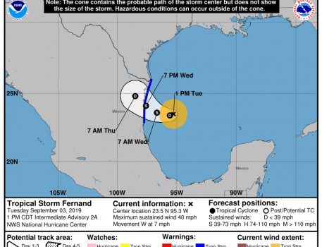 tormenta tropical fernand