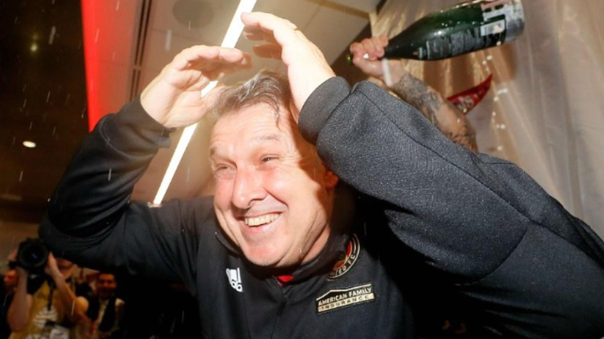 El Director Técnico de Atlanta United está feliz con el triunfo.