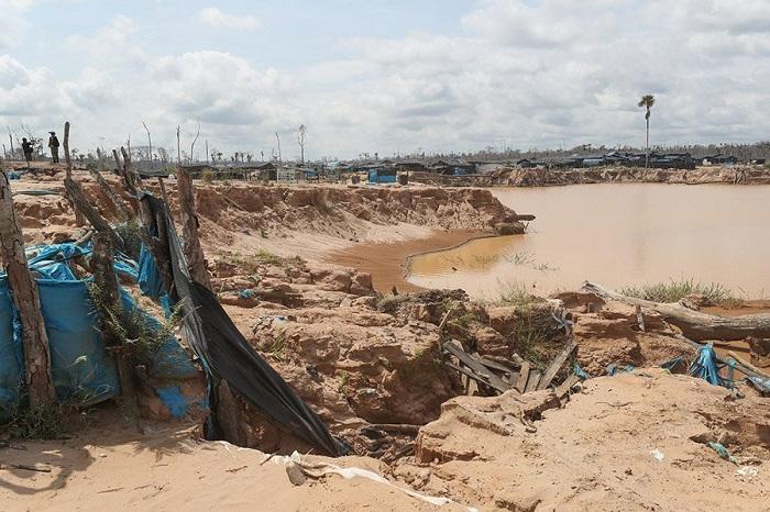"""La base se instaló en un campamento ubicado en un sector al que los mineros llamaban """"Balata"""", pero que no está registrado en los mapas oficiales. Foto cortesía"""
