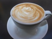 You know they're serious about their cappuccino when it looks good!