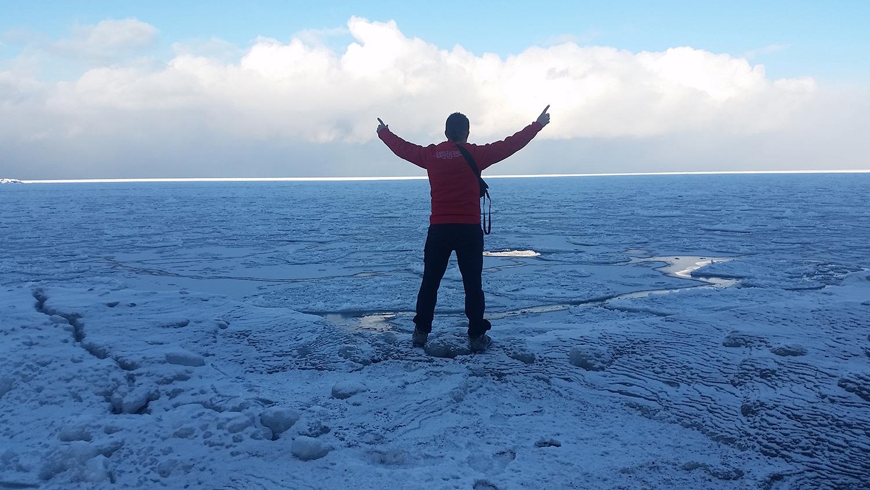 Sobre el Lago Baikal camino a Sliudianka