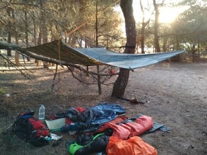 Guía Cami de cavalls y la acampada